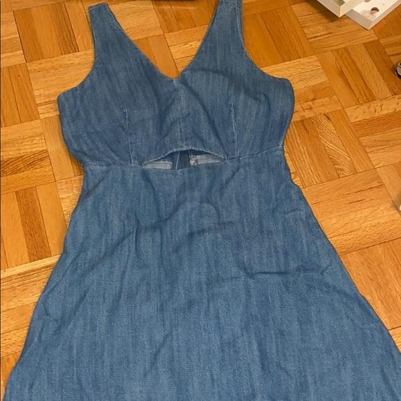 Mini flared denim dress